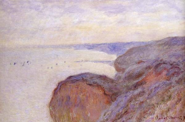 Monet Claude Cliffs Near Dieppe